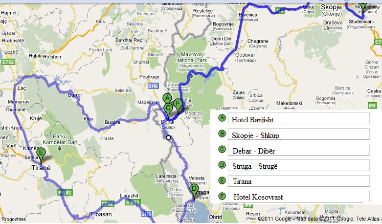 lokacioni harta banjisht - kosovrast
